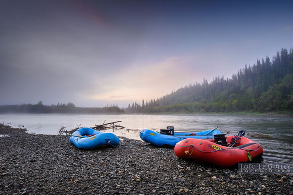 Early morning on the Kobuk river, Alaska