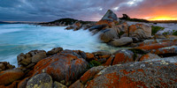 Sunset at the Bay of Fires